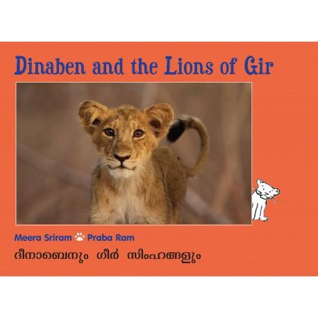 Dinaben And The Lions Of Gir/Dinabenum Gir Singamgalum (English-Malayalam)