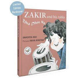Zakir And His Tabla:  Dha Dhin Na (English - Hardcover)